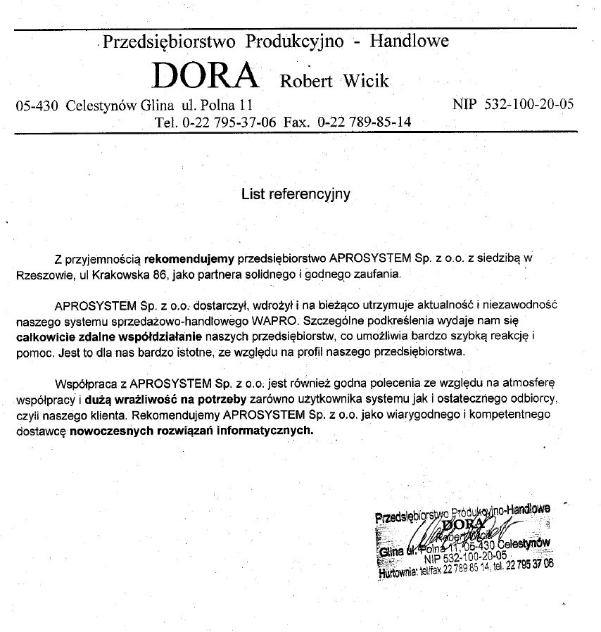 referencje DORA 2