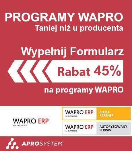 45% rabatu na programy WAPRO